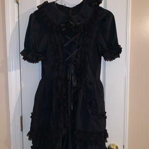 Black dance costume dress